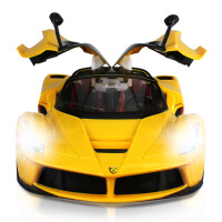 新款1:12高速跑车一键开门5通仿真遥控车模