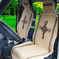 四季通用手编冰丝汽车坐垫面包车货车轿车座套 通风透气椅垫