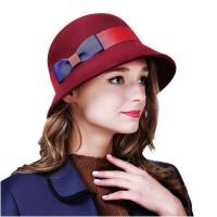 秋冬天女英伦毛呢子帽  帽子女保暖盆帽  礼帽 渔夫帽
