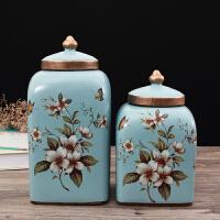 欧式田园装饰摆件水果盘纸巾盒花瓶客厅套装美式创意家居软装摆设