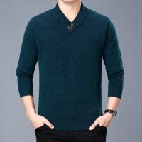 产自鄂尔多斯市秋冬装男士仿羊绒衫V领加厚中青年韩版修身