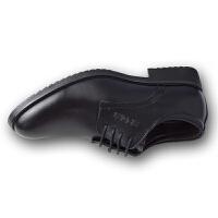男士皮鞋黑色西装正装职业装透气休闲商务男鞋上班大学生面试青年 黑色