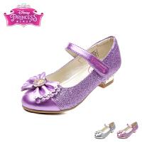 迪士尼Disney童鞋18春夏新款时尚公主鞋女孩闪钻时装鞋格力特闪耀学生返校鞋女童单鞋 (7-12岁可选) DF0476