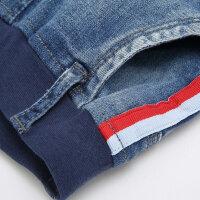 【2件3折到手价:53.7】美特斯邦威旗下moomoo童装男童侧边织带牛仔长裤