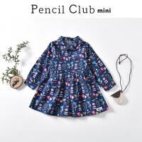 【3件2折:45.8】铅笔俱乐部童装2020春装新款女童连衣裙女小童裙子儿童印花连衣裙