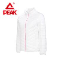 匹克女棉服秋冬新款保暖立领上衣运动外套棉服F564118