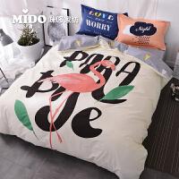 简约北欧风ins被子网红床上四件套全棉纯棉床单被套床上用品4件套