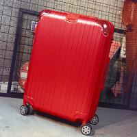 时尚万向轮拉杆箱女20密码男箱24寸小清新旅行箱大学生可爱皮箱子 西瓜红 【时尚款】