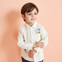 【1件3折到手价:35.97】moomoo童装男婴童多彩卡通长袖衬衫