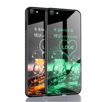 苹果6手机壳套 iPhone6s手机壳 iphone6/6s夜光钢化玻璃镜面硅胶软边全包防摔外壳手机壳