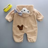 男宝宝连体衣秋冬装套装0外出抱衣1-3岁网红婴儿衣服女冬季爬行服