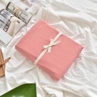 日系水洗棉床笠床单单件席梦思床垫保护套纯棉1.5/1.8 纯色