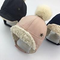 婴儿帽子冬季6-12个月加绒男童女童护耳雷锋帽冬天儿童宝宝鸭舌帽 根据头围拍
