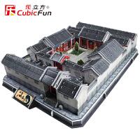 乐立方立体拼图 中国北京四合院建筑模型 拼装模型成人拼图