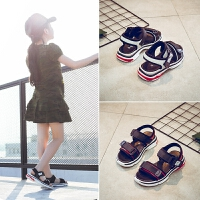 女童凉鞋儿童宝宝鞋中大童时尚夏季小孩男童软底运动