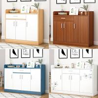 鞋柜家用门口大容量简约现代玄关柜实木色进门简易收纳柜子储物柜