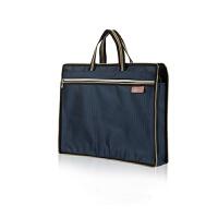 文件袋A4办公手提袋拉链袋会议资料袋尼龙手提包男士公文包防水袋 宝蓝色