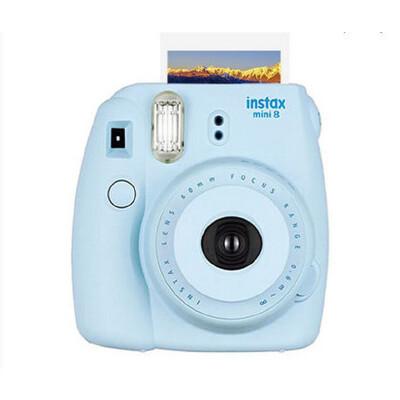 【可礼品卡支付+包邮】Fujifilm/富士 instax mini8一次成像相机蓝色 拍立得胶片 趣奇相机送相机纸10张