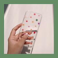 插画泫雅风同款小花夏日苹果XSMAXiPhone78p透明手机壳 iPhone XR第二批现货
