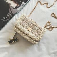 韩版时尚链条小包包女2018新款毛呢小方包气质百搭单肩斜挎包
