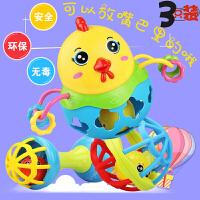 手摇铃玩具 婴儿童0-1岁宝宝软胶可咬套装3-6-12个月男孩女孩益智