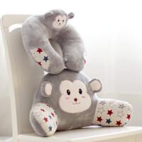 ?可爱猴子办公室靠垫卡通腰枕汽车椅子护腰靠枕靠背垫座椅抱枕腰靠?