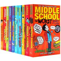 上学不容易系列10本套装 英文原版 Middle School 地狱高中生活 电影原著 校园成长小说 媲美小屁孩日记