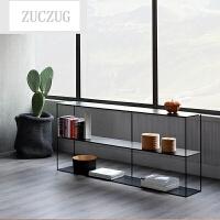 ZUCZUG北欧现代玄关铁艺置物架摆件桌展示架书架多层收纳架子过道展架