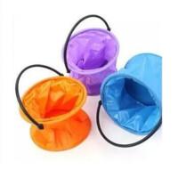 洗笔筒颜料 洗笔桶 橡胶水桶 折叠水桶 伸缩水桶一个价格颜色随 机