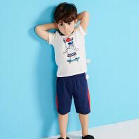 【1件2.5折到手价:42.3】moomoo童装男幼童套装夏季新款小童男宝宝多色卡通印花短袖套装