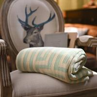针织加密加厚沙发毯针织毯 毛线毯子办公室午睡毯