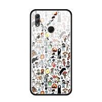华为nova3i荣耀note10 8x max手机壳玻璃套软卡通无脸男龙猫