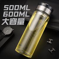 玻璃杯便携单层泡茶杯过滤随手水大容量