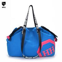 单肩包手提包男包女包帆布包韩版潮休闲包运动包大容量旅行包包袋