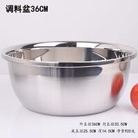 加厚不锈钢漏盆子加深沥水洗菜盆淘米洗米筛汤盆面盆圆形家用厨房 特厚水盆 36CM