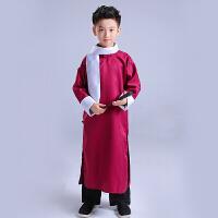 相声大褂儿童演出服装男孩女小学生长衫民国五四青少年长袍幼儿园Q1