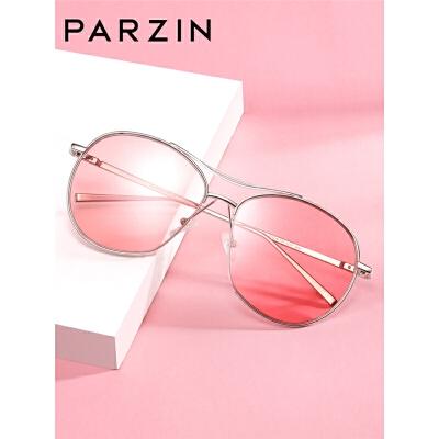 太阳镜女浅色迷幻复古圆形半框眼镜潮墨镜驾驶镜