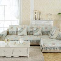 欧式沙发垫四季通用布艺防滑组合坐垫简约现代全包沙发套罩巾