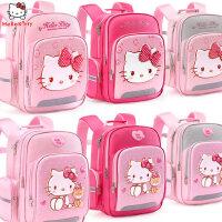 凯蒂猫小学生女童1-3-4年级女孩书包6-12岁儿童减负双肩背包书包