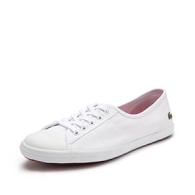 Lacoste法国鳄鱼清新百搭舒适休闲帆布小白鞋 7-28SPW1023