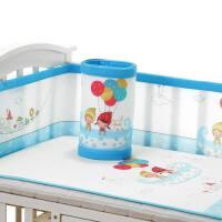 婴儿床围套件四季通用可拆洗宝宝新生儿床上用品防撞床围宝宝床帏a378 天空旅行 通用款