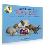 【发顺丰】英文原版 Brown Rabbit's Busy Day 小棕兔忙碌的一天 吴敏兰推荐123绘本 3-6岁儿