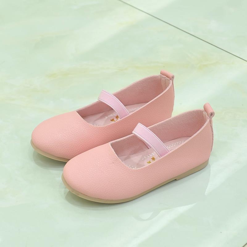 女童皮鞋时尚休闲鞋韩学生演出鞋春秋款女童豆豆鞋一脚蹬