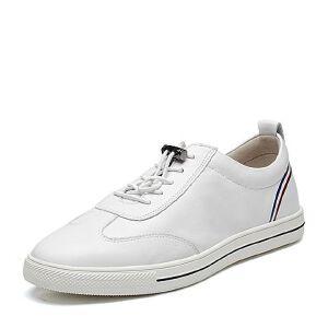Teenmix/天美意2018春专柜同款牛皮时尚条纹平跟男休闲鞋66Z01AM8
