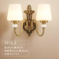 美式壁灯客厅复古欧式卧室床头灯全铜欧式楼梯过道背景墙灯具