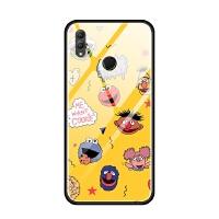华为nova3i荣耀note10 8x max手机壳玻璃套软 芝麻街可爱卡通萌