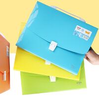 微笑彩色风琴包学生多层资料试卷袋手提文件袋文件夹资料收纳包A4