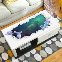 【支持礼品卡支付】网红创意3D印花软玻璃pvc桌布防水防烫防油免洗塑料长方形茶几垫