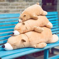 搞怪裸熊公仔毛绒玩具北极熊大白三只贱熊抱枕儿童玩偶生日礼物女
