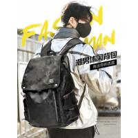男士双肩包大容量商务电脑背包潮流ins大学生书包休闲尼龙旅行包